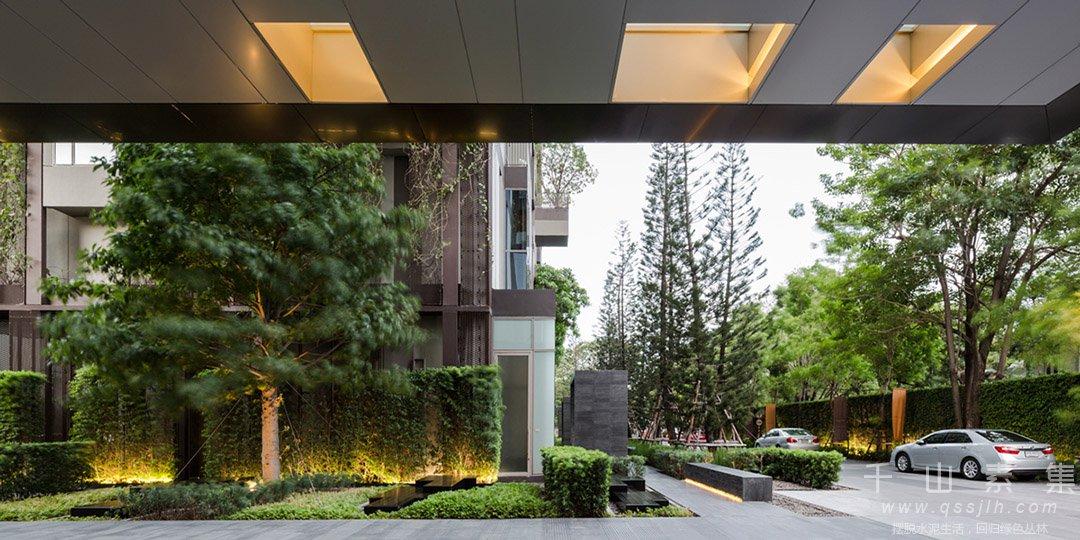 公寓立体绿化,住宅立体绿化,立体绿化景观