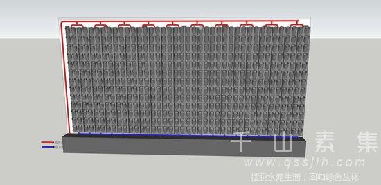 水培植物墙,模块式植物墙