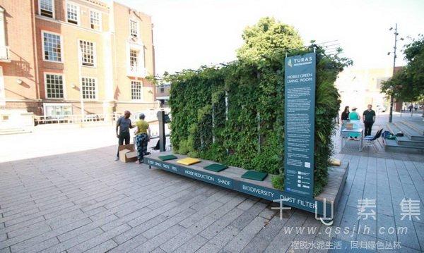 街头植物墙,移动植物墙