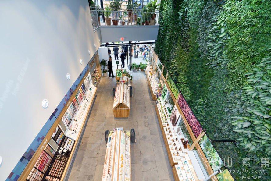 商店植物墙,植物墙设计,植物墙景观