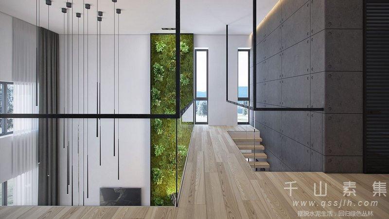 跨层植物墙,植物墙设计,植物墙景观