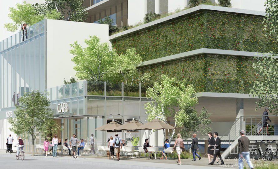 洛杉矶办公楼植物墙--将森林的春风吹向繁华都市