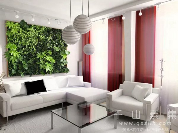 家庭植物墙,阳台植物墙,卧室植物墙