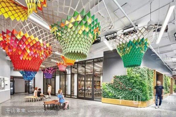 办公室植物墙花样设计 空间从此不再单调