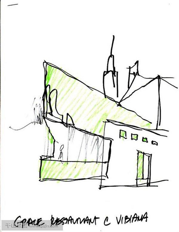 餐厅垂直绿化,餐厅设计,垂直绿化景观
