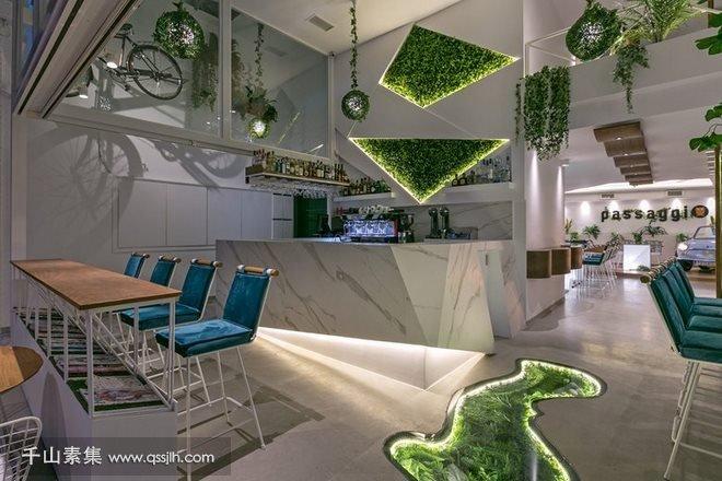 咖啡厅植物墙