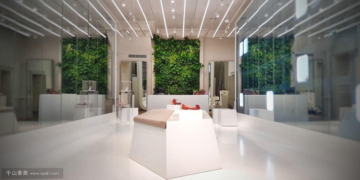 商店植物墙
